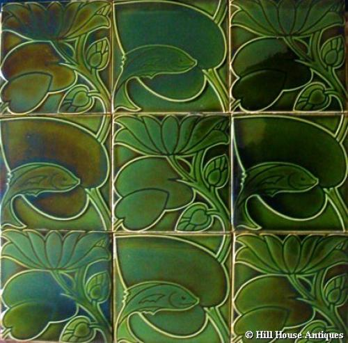 CFA Voysey 9 tile fish panel