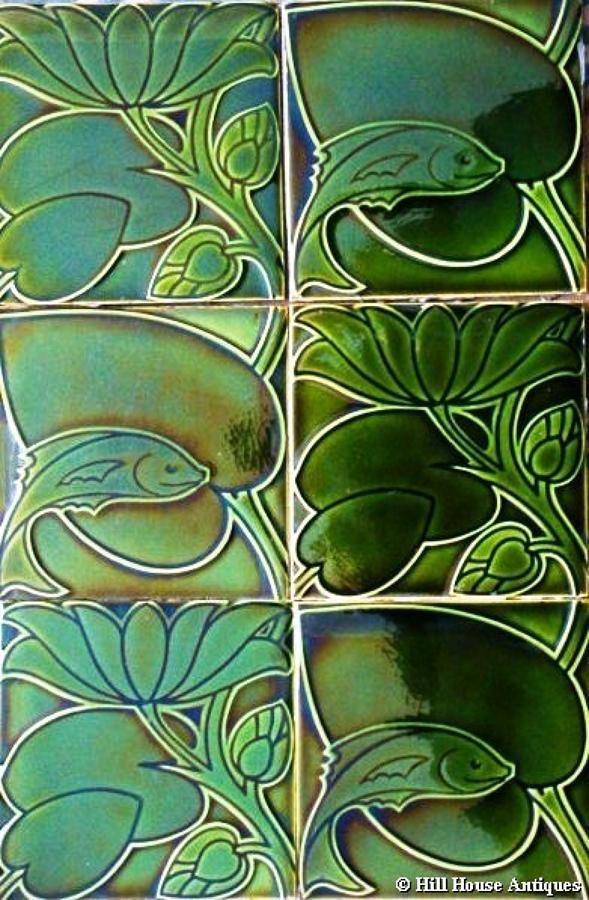 CFA Voysey 6 tile fish panel