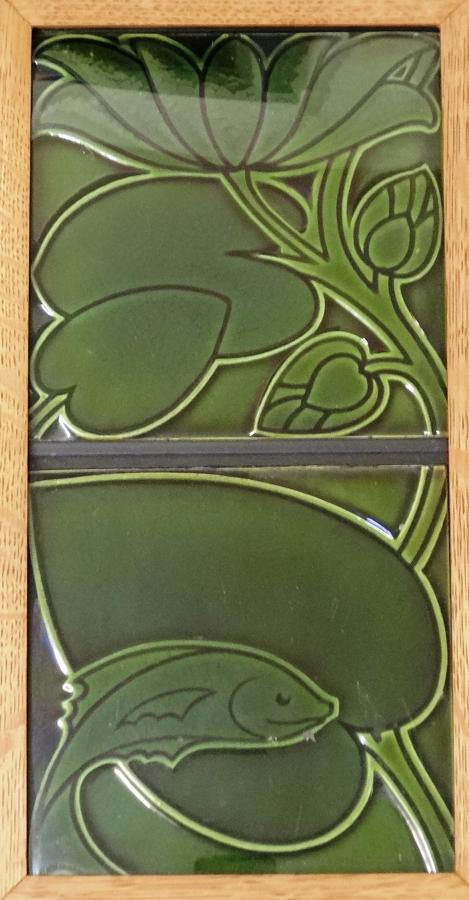 CFA Voysey 2 tile fish panel