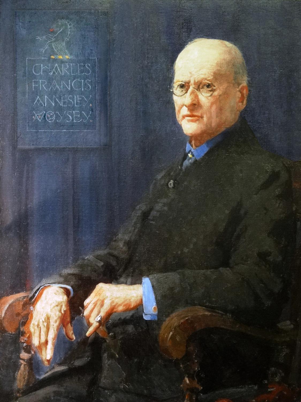 CFA Voysey original portrait painting in oil