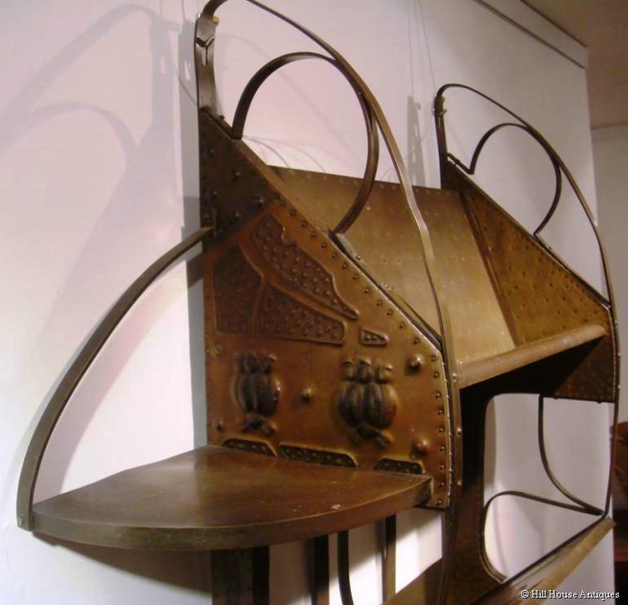 Gustave Serrurier-Bovy mag rack/ bookshelf