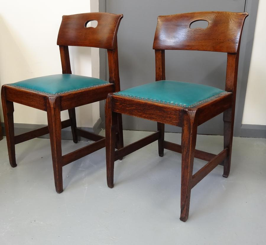 Rare pair Richard Riemerschmid Arts & Crafts chairs