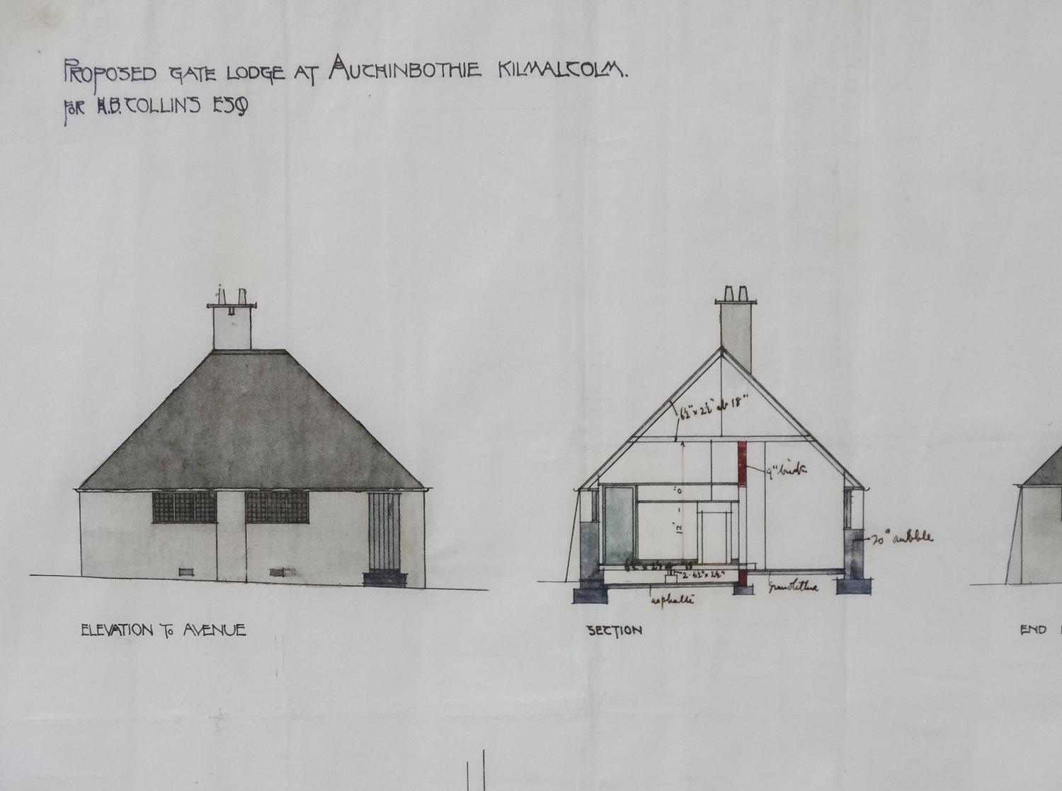 Charles R Mackintosh architectural drawing 3