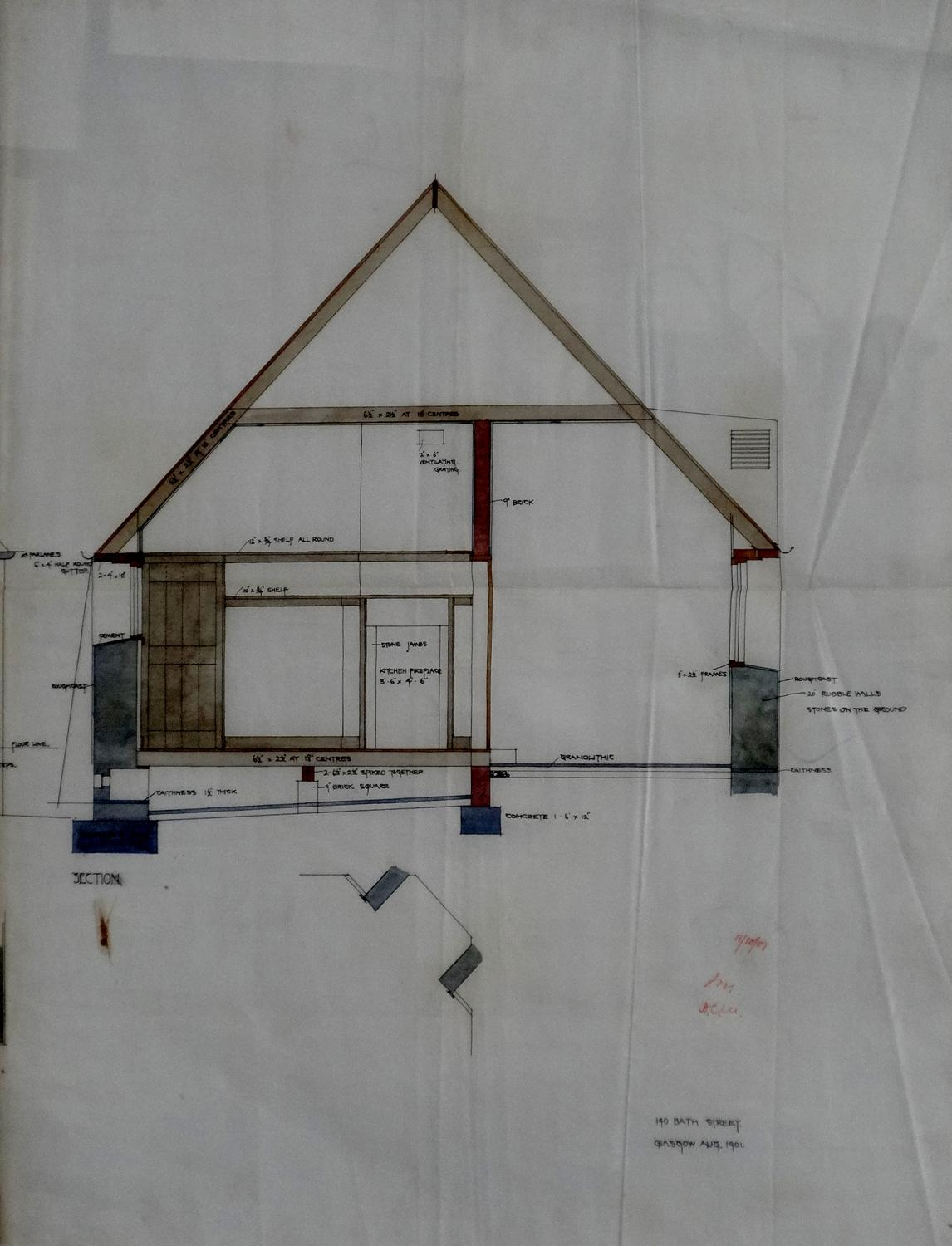 Charles R Mackintosh architectural drawing 2