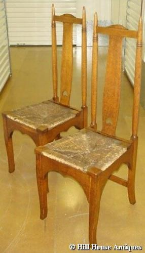 Wylie & Lochhead pair Arts & Crafts chairs
