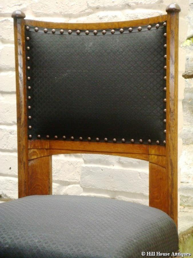 Rare Glasgow School John Ednie pair of chairs