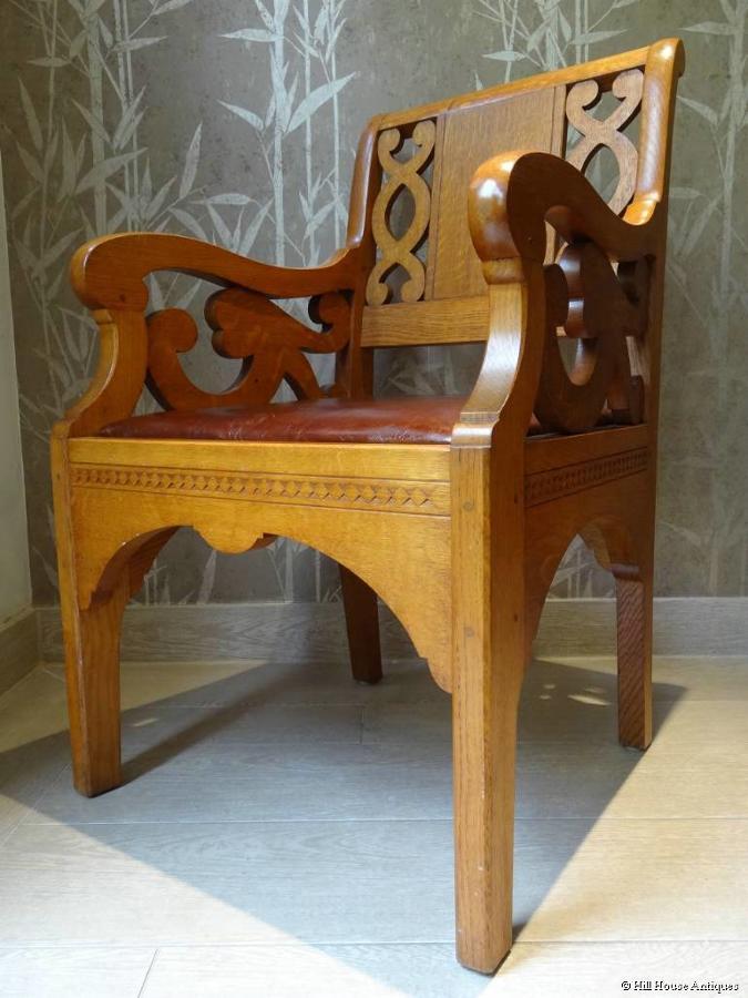PAIR Cotswold School armchairs Romney Green