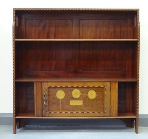 Rare Shapland & Petter bookcase Baillie Scott
