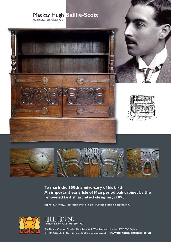 Rare MH Baillie Scott cabinet