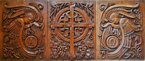Mary Seton Watts Compton carved panels