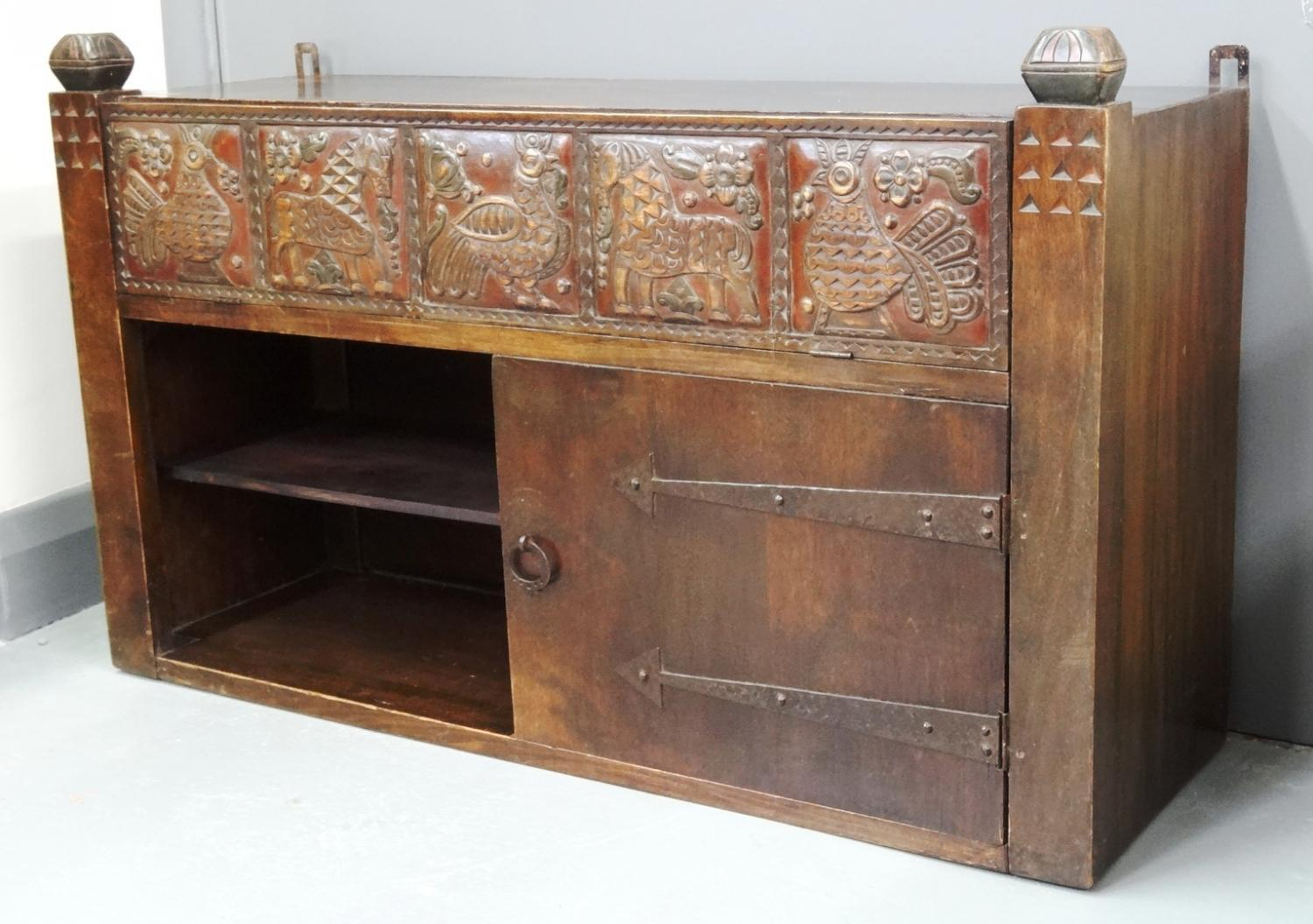 Russian Arts & Crafts cabinet