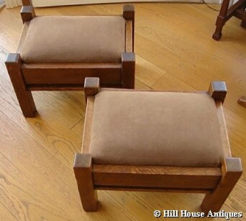 Rare pair of Liberty & Co stools