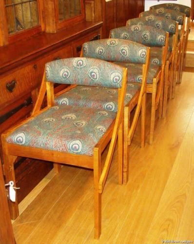 Liberty 1960s cafe set of 6 chairs