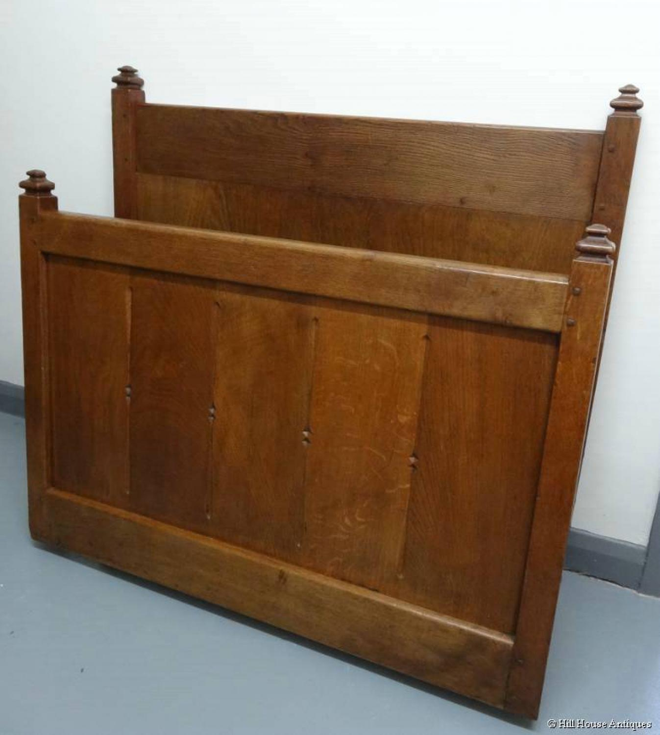 Liberty & Co oak bed Lethaby