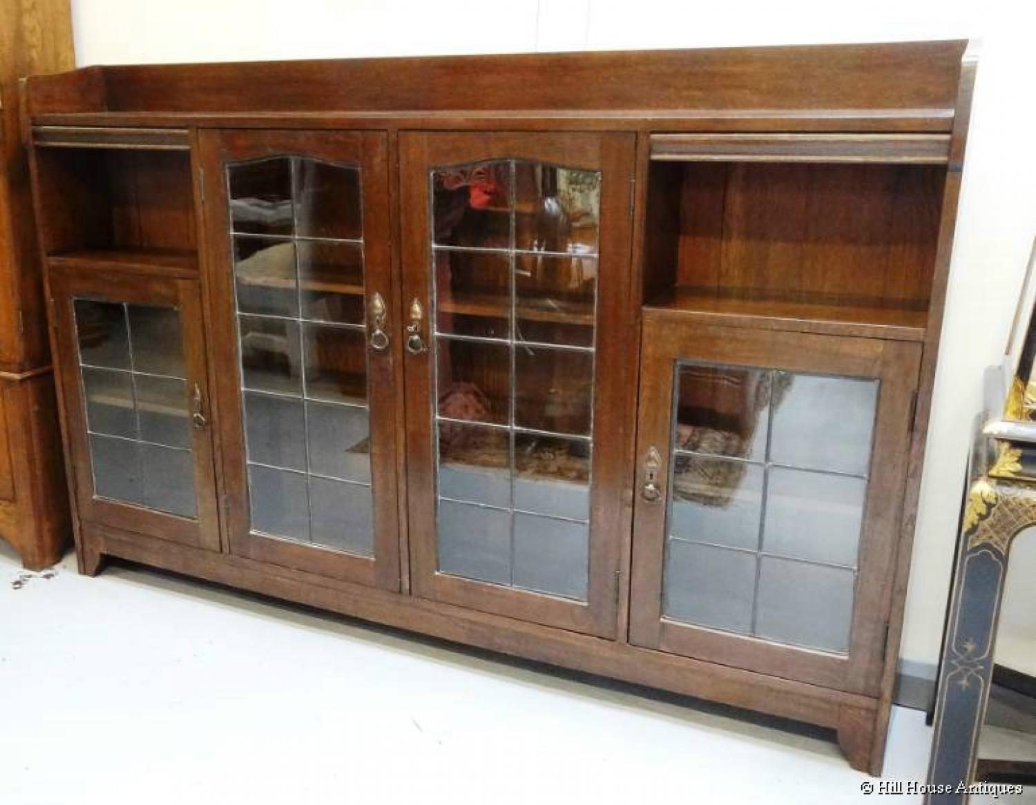 Liberty & Co Arts & Crafts wide bookcase 1