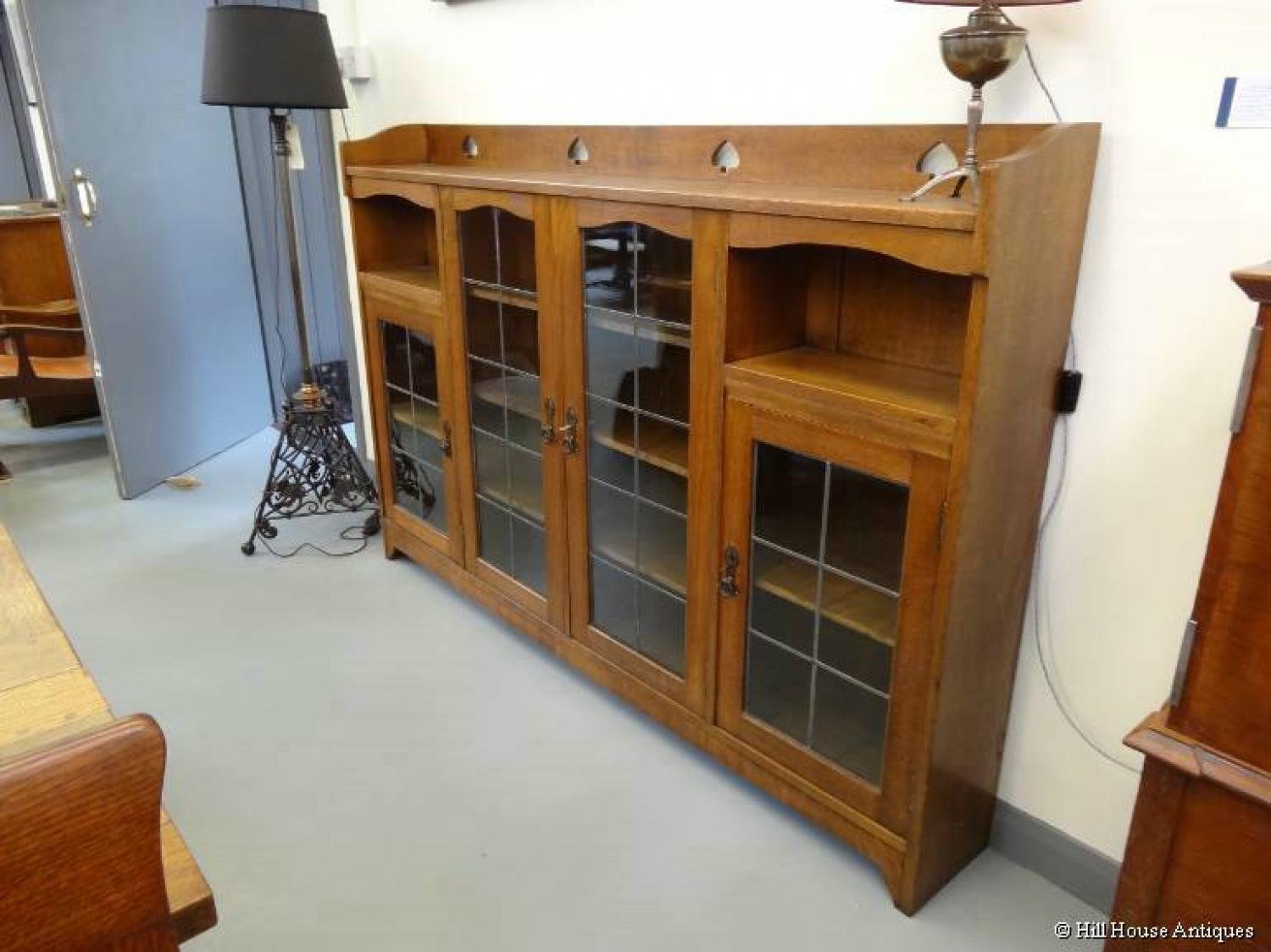 Liberty & Co Arts & Crafts wide bookcase 2
