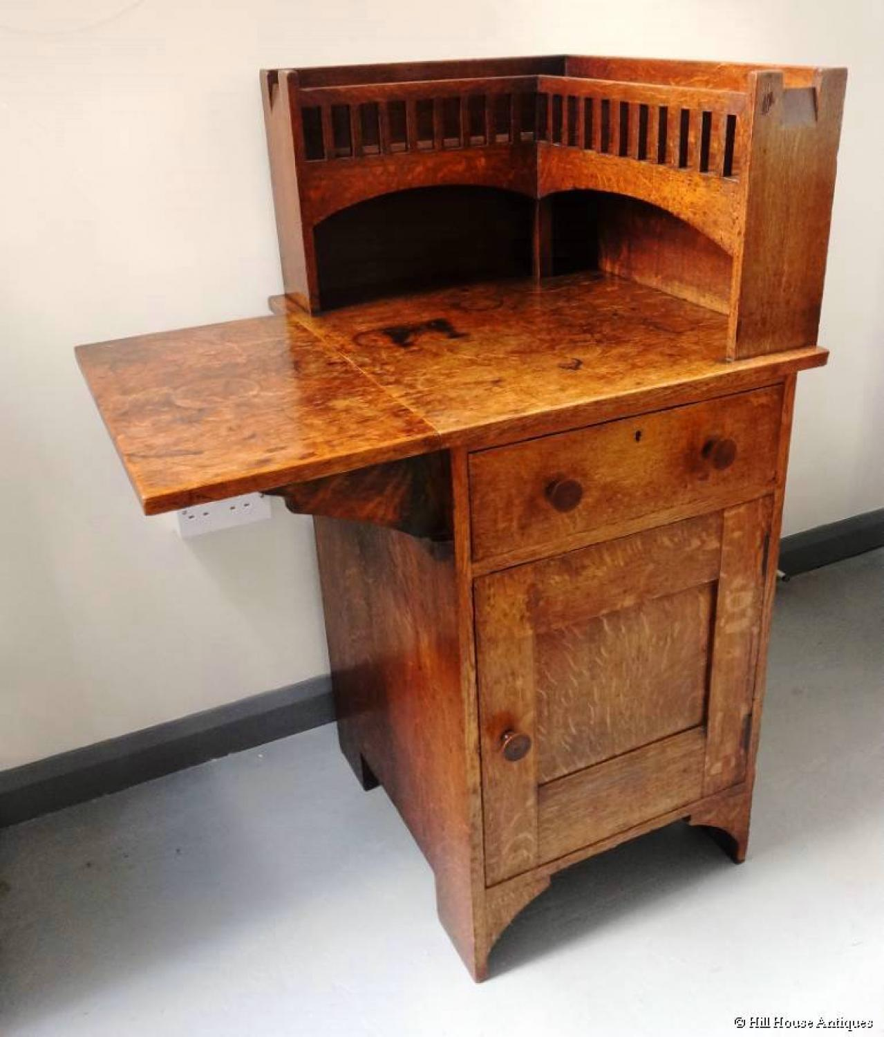 Unusual arts crafts corner cabinet desk in liberty co for Art and craft workstation