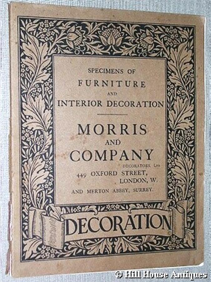 Rare Morris & Company Furniture catalogue 1