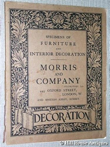 Rare Morris & Company Furniture catalogue 1