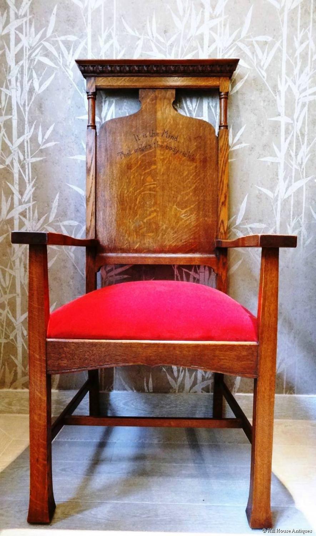 Arthur Simpson of Kendal motto armchair