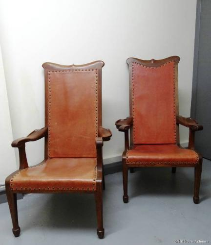 Rare pair of Arthur Simpson easy chairs