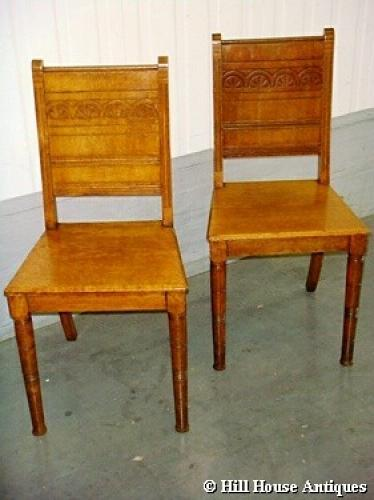 Christopher Dresser hall chairs