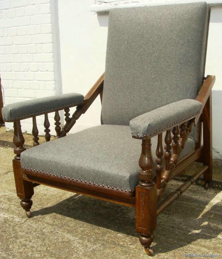Arts & Crafts metamorphic armchair table