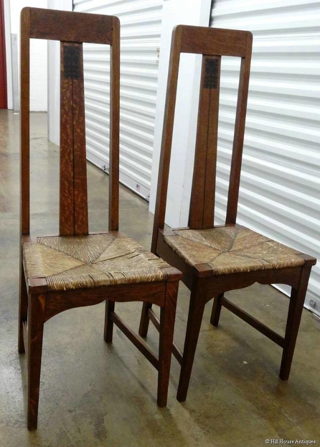 Arts & Crafts Baillie Scott style chairs