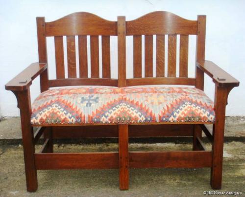 Rare L & JG Stickley love seat
