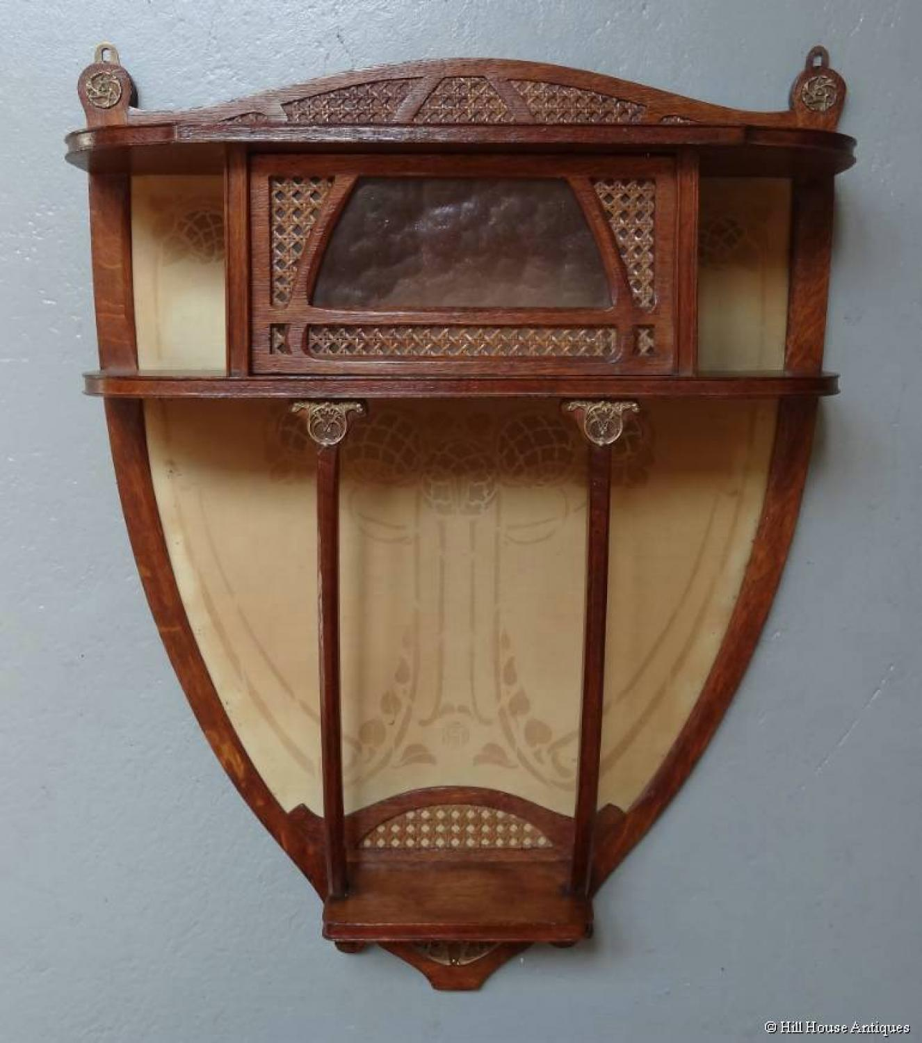 Art Nouveau small wall display cabinet