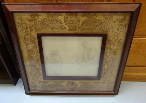 Rossetti frame with pencil drawing