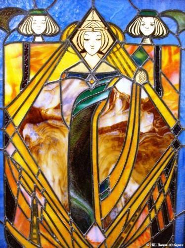 Glasgow Style Mackintosh stained glass window