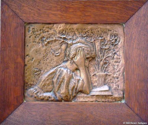Rare Alexandre Charpentier copper plaque