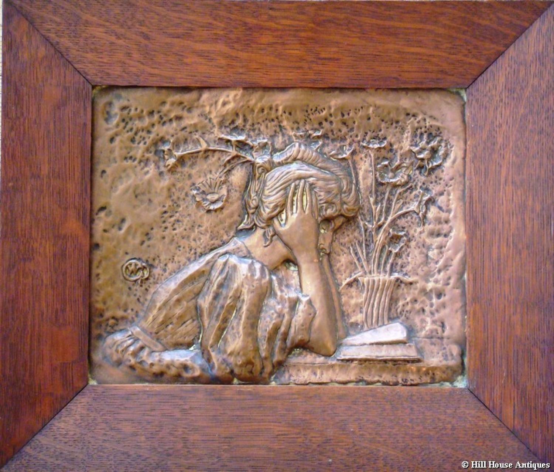 Rare Alexandre Charpentier copper plaque