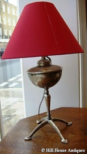 WAS Benson silver plated table lamp