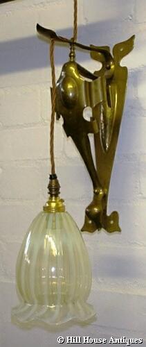 PAIR of Art Nouveau wall lights