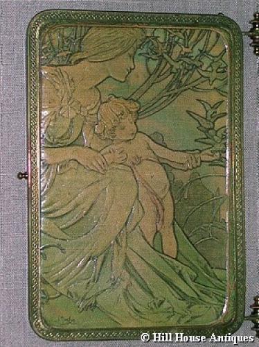Alphonse Mucha triptych mirror