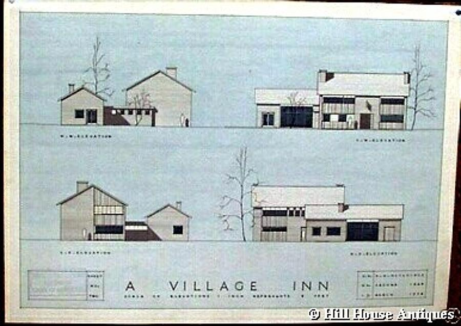 1950s Architectural Blueprint 1