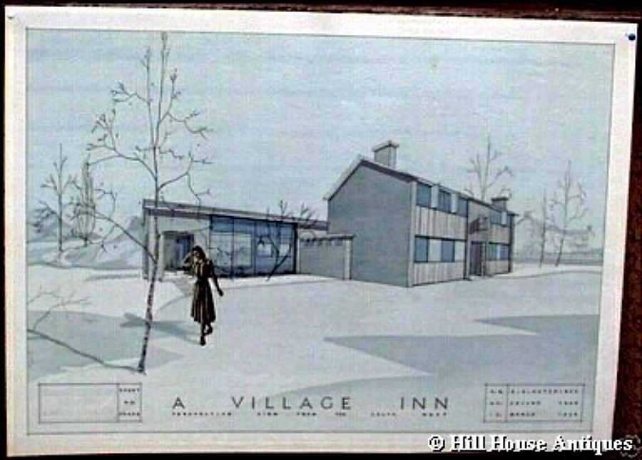 1950s Architectural Blueprint 2