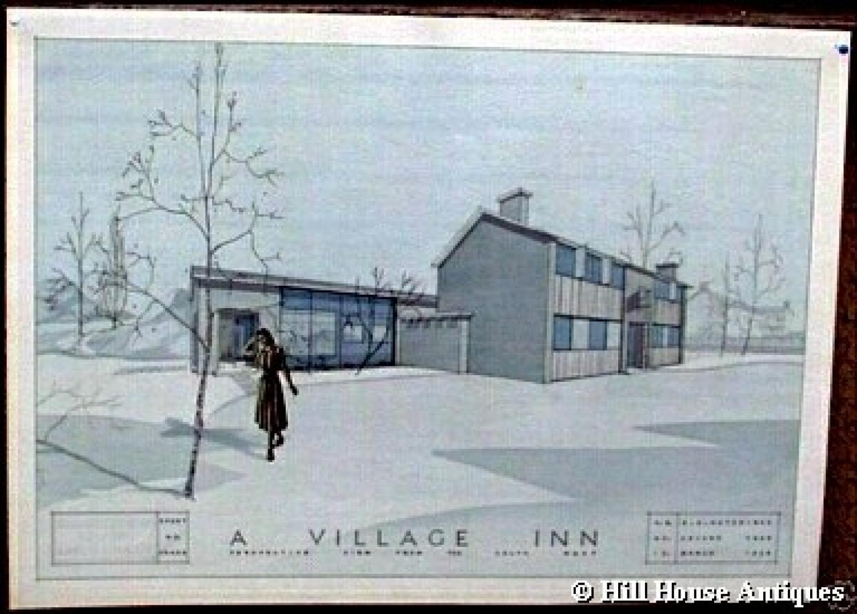 1950s Architectural Blueprint 2