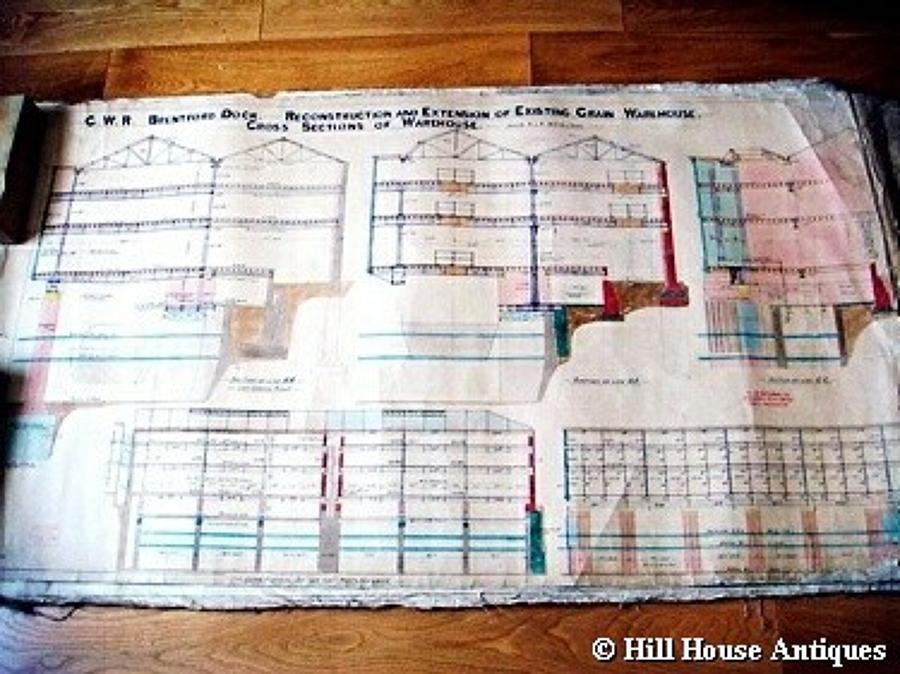 Rare set of GWR architectural drawings