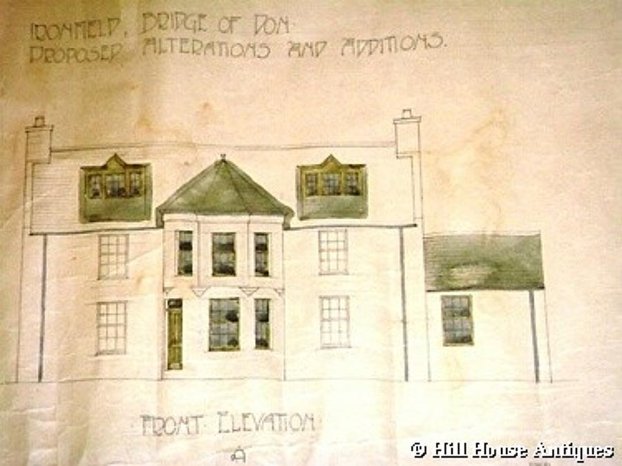 Scottish Arts & Crafts architectural drawing