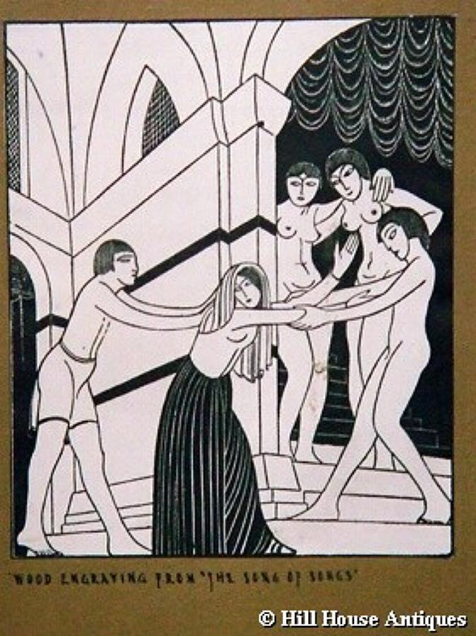 Eric Gill woodblock engraving