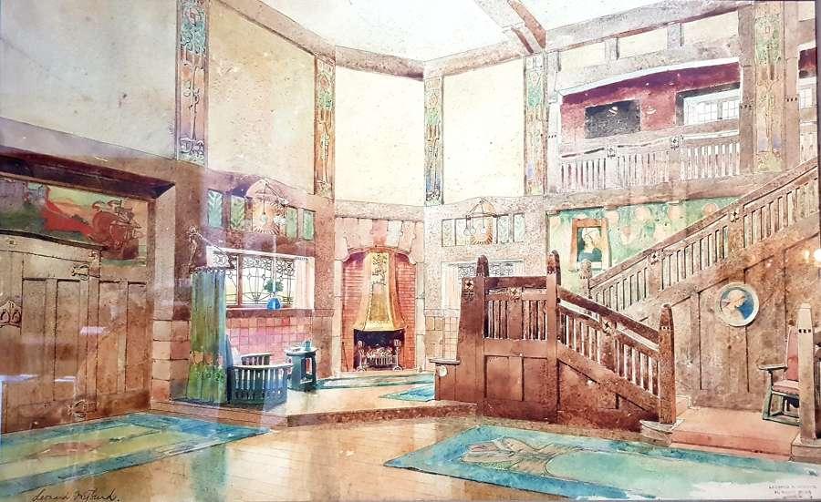 Liberty Leonard Wyburd watercolour interior 3