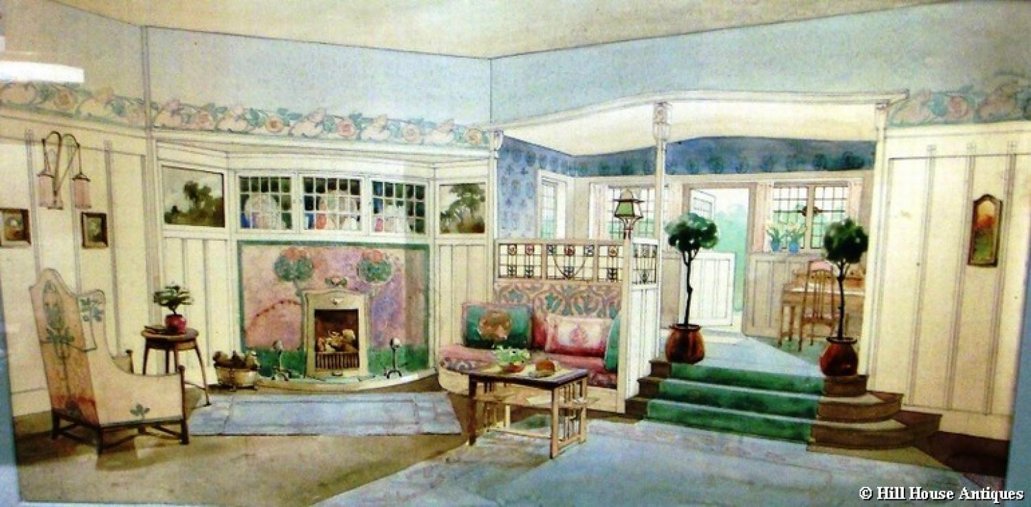 Liberty Leonard Wyburd watercolour interior 1