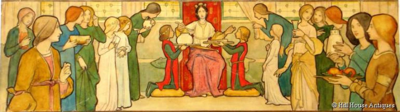 Pre-Raphaelite style watercolour