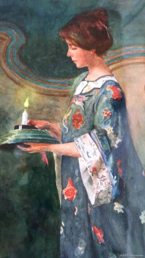 Art Nouveau watercolour DKR