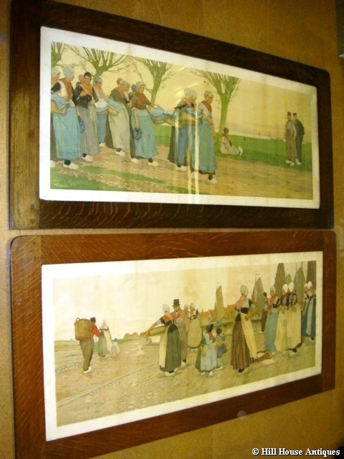 Pair Liberty Henri Cassiers large prints 1