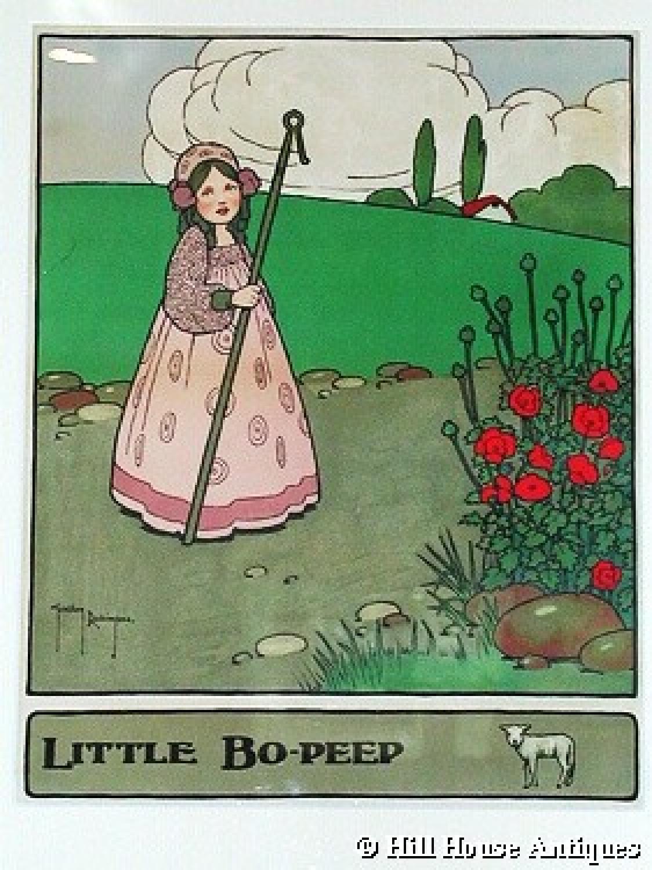 Little Bo Peep nursery print