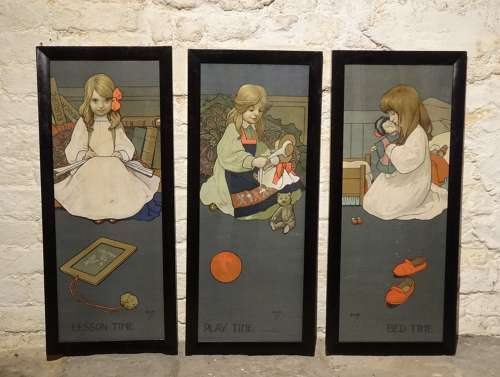 John Hassall nursery set of lithos